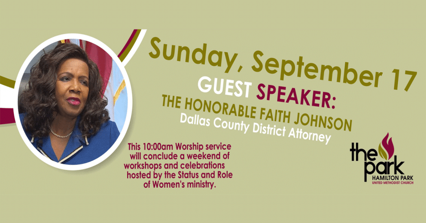 Guest Speaker: Honorable Faith Johnson