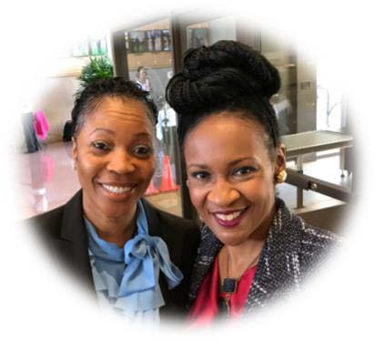 Dallas Police Chief Renee Hall and Dr. Sheron C. Patterson