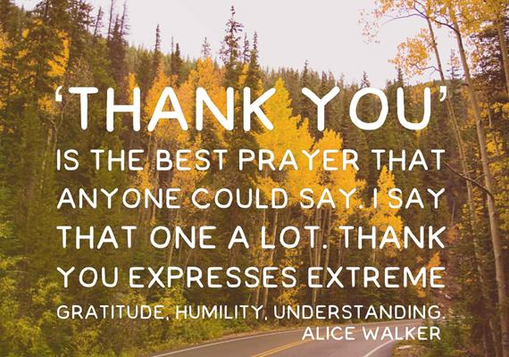Thank You is the Best Prayer