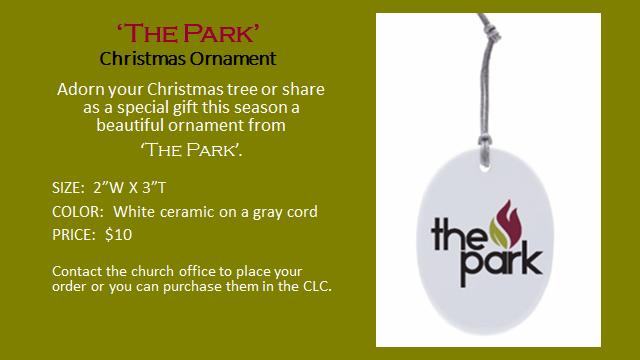 The Park Christmas ornament