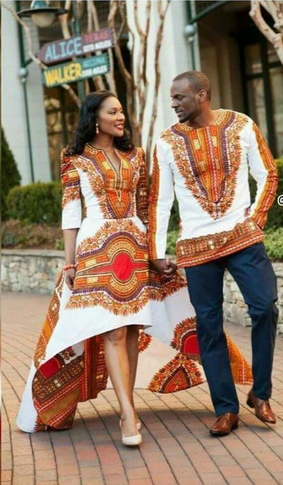 couple in African attire