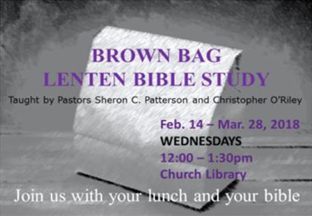 Brown Bag Lenten Bible Study 2018