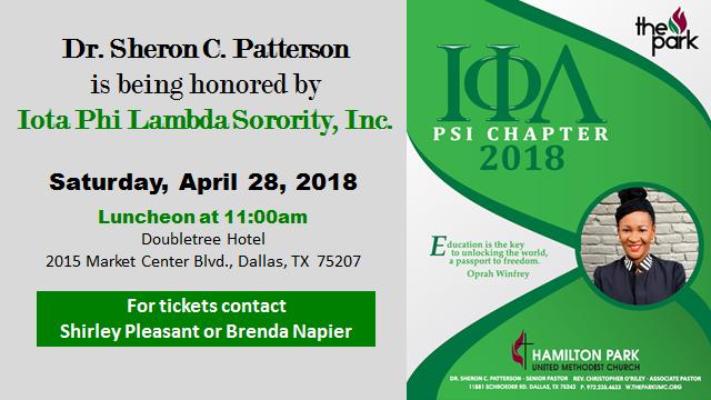 Iota Phi Lambda Sorority Honors Dr. Sheron C. Patterson