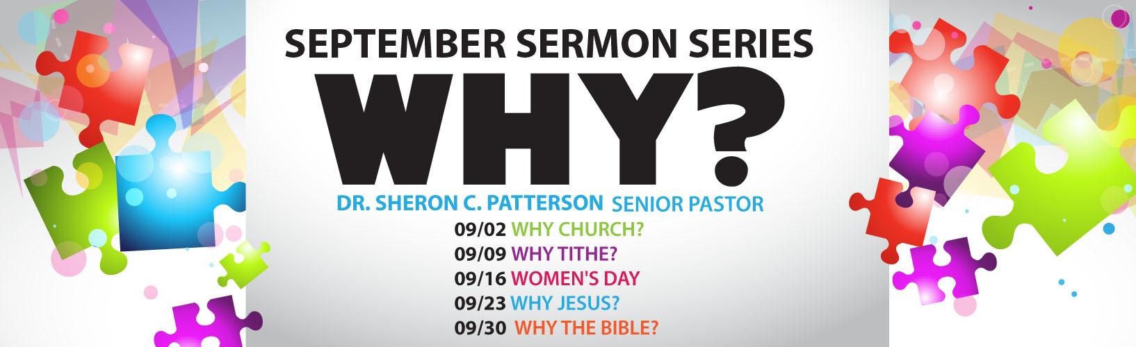 September 2018 Sermon Series