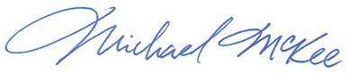 Bishop McKee signature