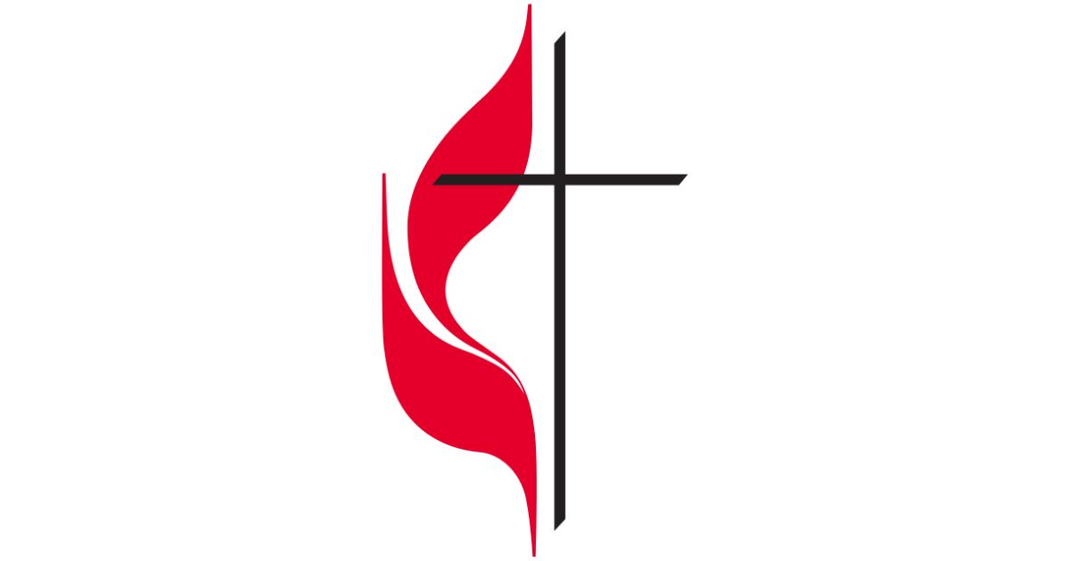 United Methodist cross and flame