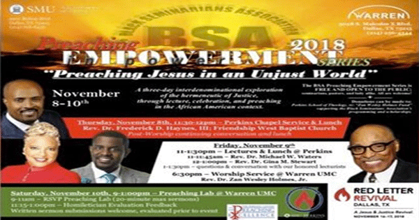 Red Letter Revival.Bsa Preaching Empowerment Series Preaching Jesus In An Unjust