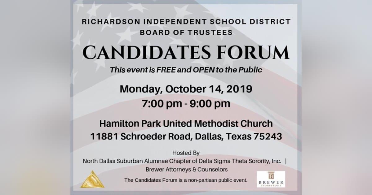 Richardson ISD Candidates Forum