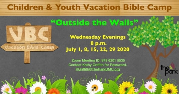 Children and Youth Vacation Bible Camp July 2020