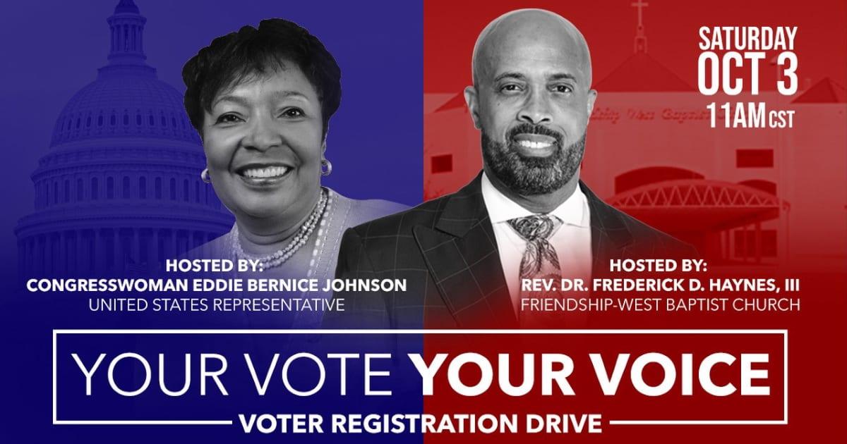 Voter Registration Drive at Friendship West