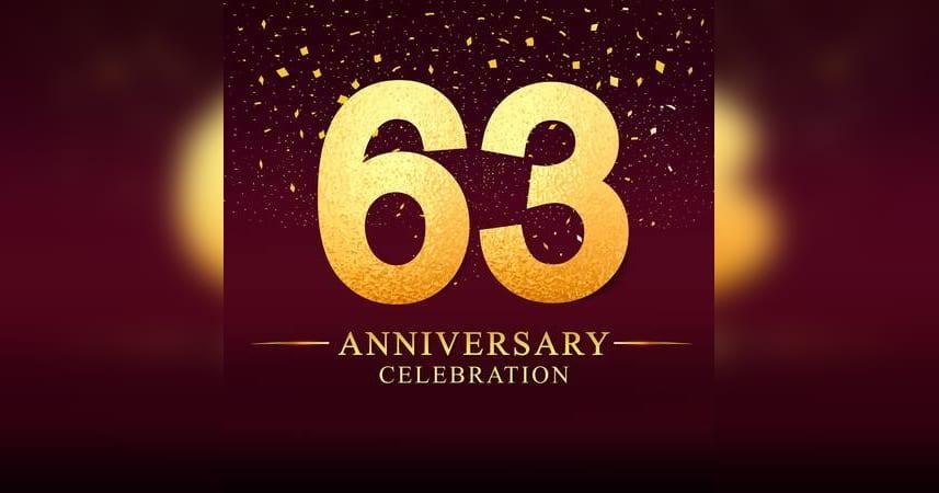 63rd Anniversary