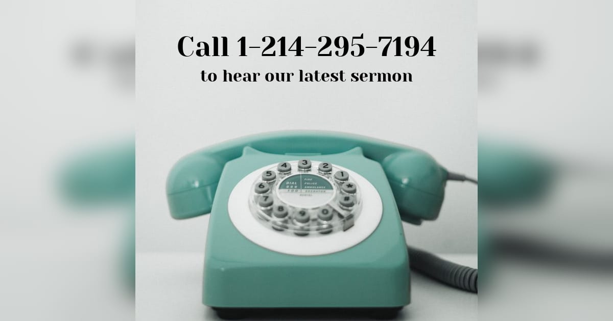 call to hear sermon