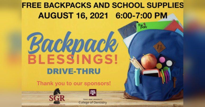 Backpack Blessings 2021